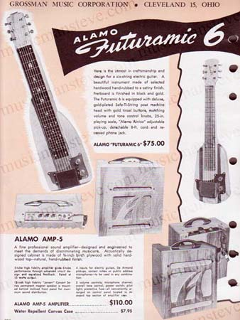 bcb97d4723 Offering a Download containing high quality scans (300 dpi) of the ALAMO  ELECTRIC GUITARS